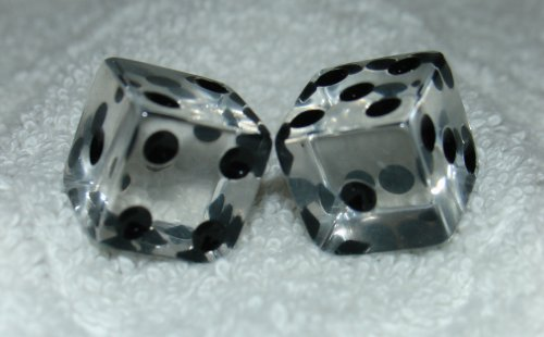 Clear Transparent Dice Pair]()
