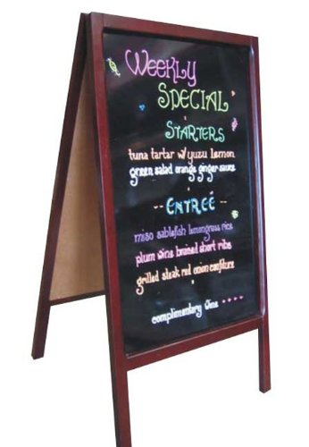 Fantastic Displays A-Frame Double Sided Sidewalk Restaurant Pavement Menu Marker Board Markerboard ()