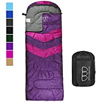 Gold Armour Sleeping Bag – Sleeping Bag for Indoor & Outdoor Use - Great for Kids, Boys, Girls, Teens & Adults. Ultralight and Compact Bags are Perfect for Hiking, Backpacking & Camping