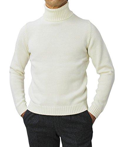 ZANONE ウール ミドルゲージ(5G) ニット タートルネック セーター タートルネック B07FSM4H1Y ウール ZANONE 46|ホワイト ホワイト 46, キソグン:6a64af19 --- jpworks.be