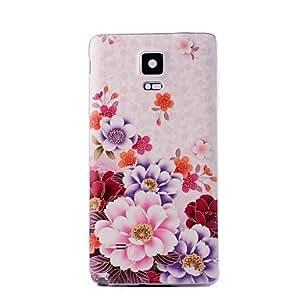 YULIN Teléfono Móvil Samsung - Cobertor Posterior - Gráfico/Dibujos Animados/Diseño Especial - para Samsung Galaxy Note 4 Plástico )