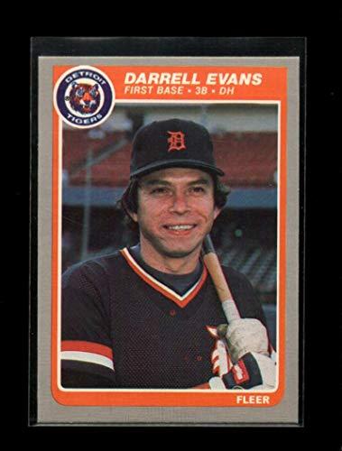 1985 FLEER #6 DARRELL EVANS NMMT TIGERS