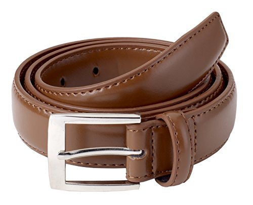Sportoli8482; Mens Classic Stitched Genuine Leather Belt - Tan (52) (Classic Belt)