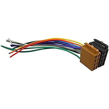 41bO6UYykKL._SL500_AC_SS350_ amazon com carav universal male iso car radio wire cable, wiring universal car stereo wiring harness at bayanpartner.co