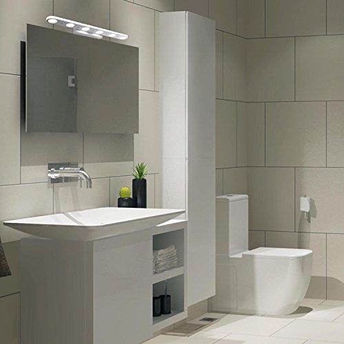 Mabor l mpara de ba o tocador luz 18w 57cm para pared - Lamparas para espejo de bano ...