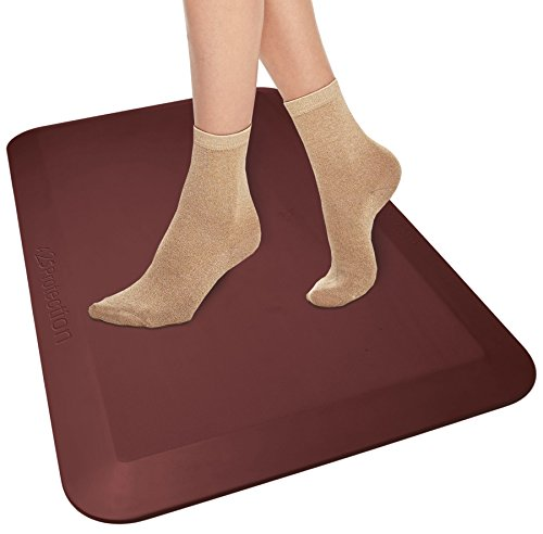 Burgundy Plastic Folding Chair (A2S Protection Anti Fatigue Comfort floor Mat 20