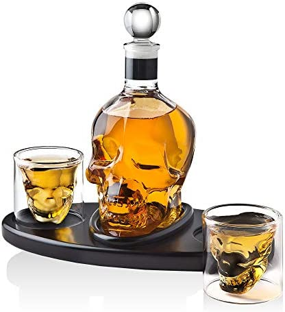 Whiskey Decanter Skull Cocktail Glasses product image