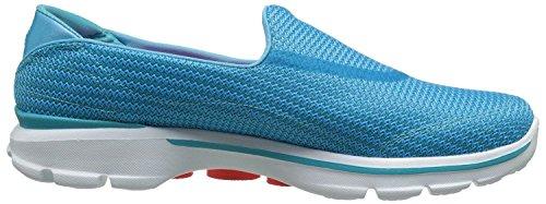 Skechers Go Walk 3 Turquoise Blanco Mujeres Slipon Zapatos
