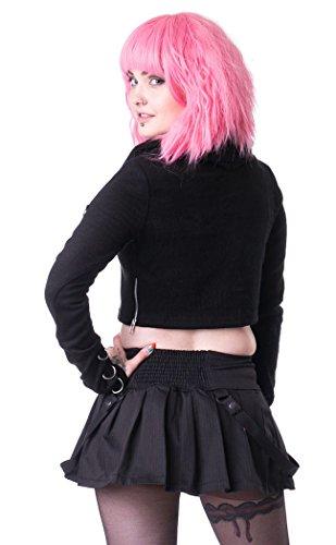 Rock Schulmädchen schwarz mit Gurte Gothic Punk Heartless Schwarz - Schwarz XEVuD6yK