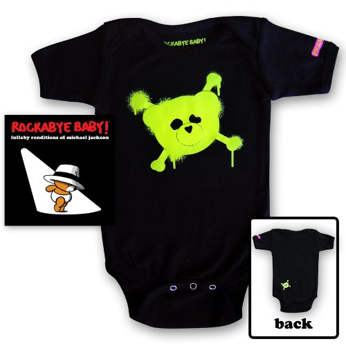 Rockabye Baby! Lullaby Renditions of Michael Jackson + Organic Baby Bodysuit (Green)
