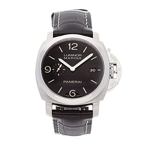 Panerai Luminor Mechanical (Automatic) Black Dial Mens Watch PAM 312 (Certified Pre-Owned)