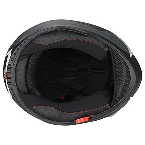 Full Face Black Dual Visera Casco para moto de bicicleta de Street by Triangle [Dot]: Amazon.es: Coche y moto