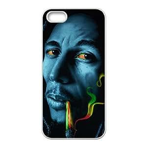 diy zhengBob marley rasta smoke Phone Case for iphone 5/5sCase