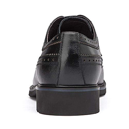 Intagliato da Business Black Uomo Broch Traspirante 37 Rubber in Comfort Scarpe Pelle XYCSZQ Av5w45q