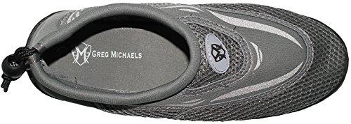 Greg Michaels Herren Wasserschuhe Aqua Socken - hohe Haltbarkeit, angenehm in Wasser und an der Oberfläche zu tragen Grau - 4