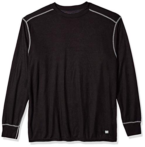 Polar Max Men's 1 Ride Crew Neck Shirt, X-Large, Black/Silver Thread