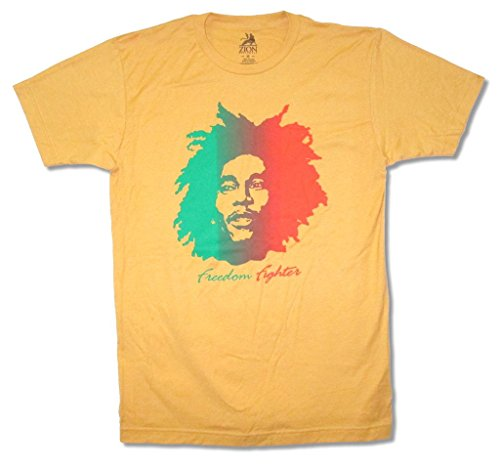 - Bob Marley Freedom Fighter Men's Yellow T Shirt (S)