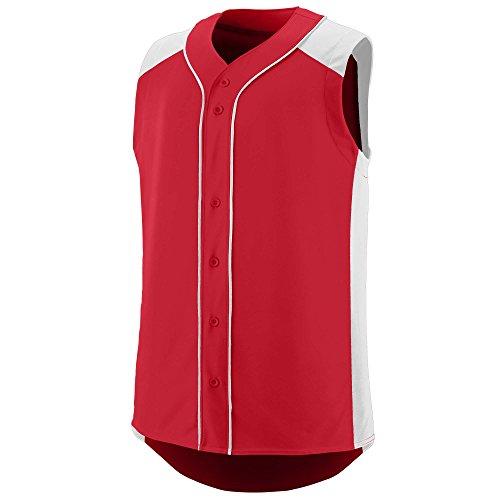 Augusta Sportswear Men's Sleeveless Slugger Baseball Jersey 2XL Red/White ()