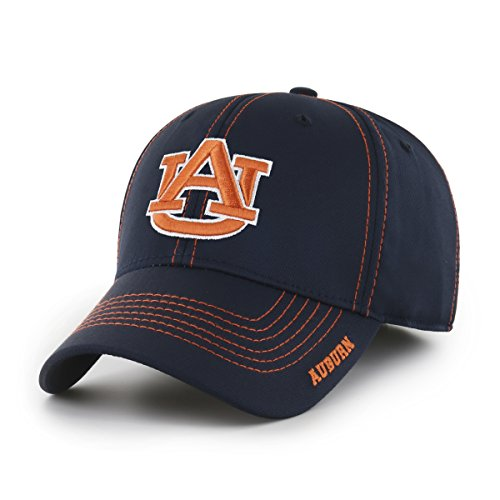 (NCAA Auburn Tigers Adult Start Line Ots Center Stretch Fit Hat, Large/X-Large, Navy)