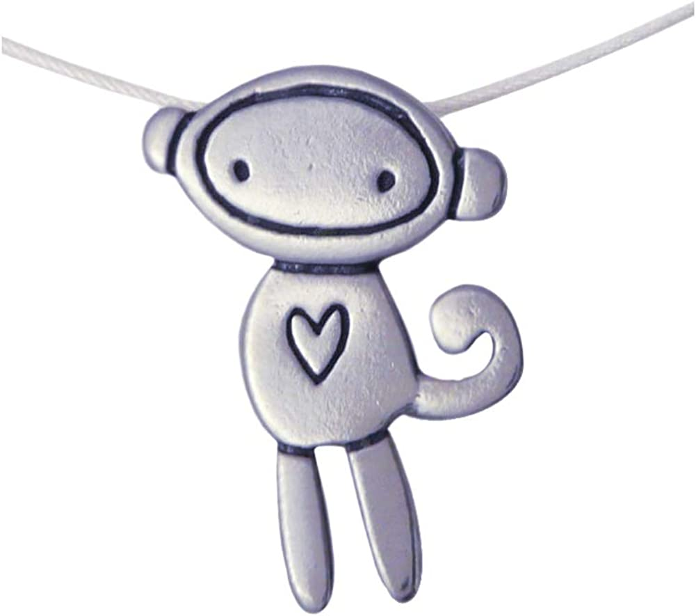 Love Monkey American-Made Sterling Silver Charm Necklace