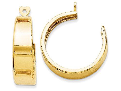 Finejewelers 14k Yellow Gold Polished Hoop Earring Jackets