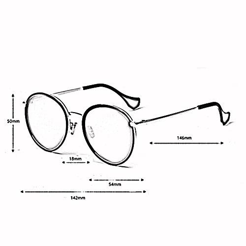 Polarizado Manejar xin Espejo Marco 400 Gafas Personalidad Moda De Color UV Grande WX 4 Retro Sol 4 De 5fwBqB