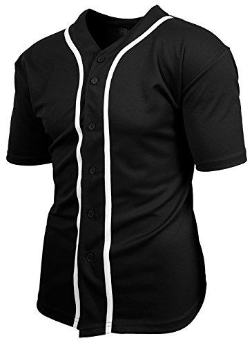Mens Baseball Button Down Jersey Hipster Hip Hop T Shirts 1UPA01 – DiZiSports Store