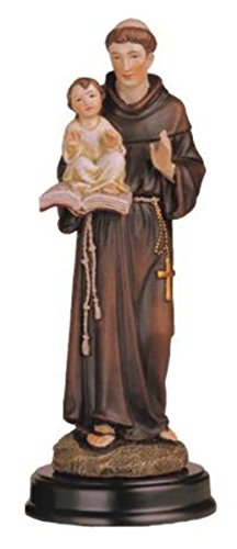 George S. Chen Imports SS-G-205.09 Saint Anthony Holy Figurine Religious Decoration Statue Decor, 5""