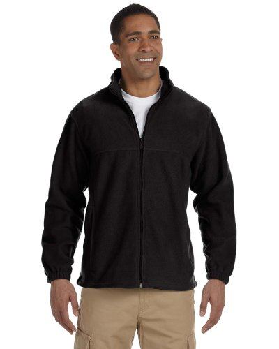 Harriton Men's 8 oz. Full-Zip Fleece, 3XL, (Harriton Mens Full Zip Fleece)