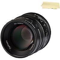 7artisans 55MM F1.4 APS-C Large Aperture Portrait Manual Focus Lens For Canon EOS-M Mount Cameras,metal construction,5 Grupos 6 Elementos,M1,M2,M3,M5,M6,M10,M100