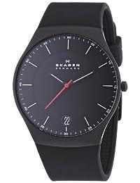 Skagen skw6087 42mm Titanium Case Black Silicone Mineral Men's Watch