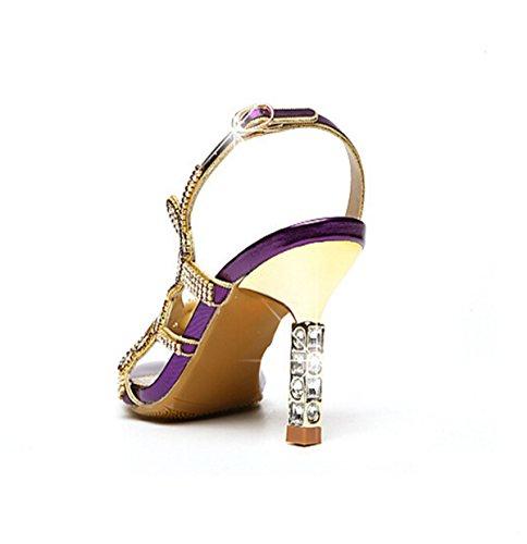 Punta De Diamante Sandalias Atractivas Purple