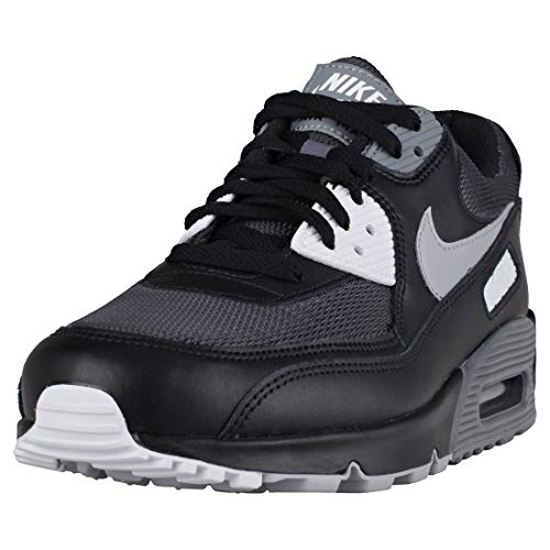 huge discount ab91d db049 Galleon - NIKE Mens Air Max 90 Essential Running Shoes Black Wolf Grey Dark  Grey AJ1285-003 Size 13