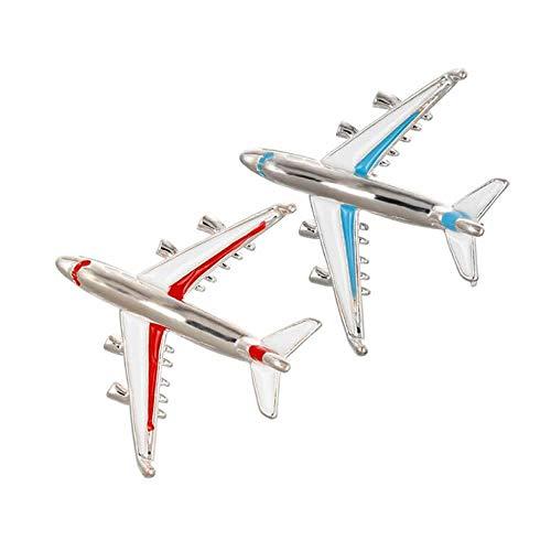(RAYNAG 2 Pack Creative Airplane Brooch Pin Flight Attendant Uniform)