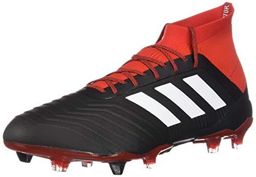 bae78e5d492af adidas Men's Predator 18.1 FG Soccer Cleats (Black/White/Red) (9.5)