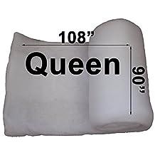 "Cotton Quilt Batting (Alternative) 90"" x 108"" (Queen) - Polyester Fiber"