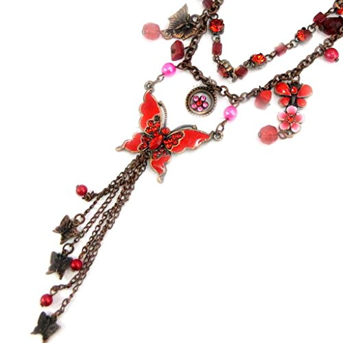 [Necklace 'french touch' 'Mulan' red / red.] (Mulan Costume Pattern)