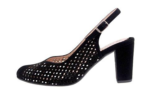 Amples Femme Noir Fête Cuir Charussures Chaussure Confortables Confort PieSanto en 1277 vzwOH