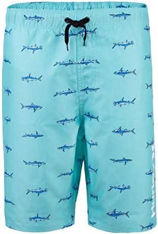Boys' Little Pull On Board Shorts Tropical Twist Shark Print 7 [並行輸入品]