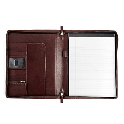 Classic Zippered Padfolio - Full Grain Leather - Burgundy (red) by Leatherology