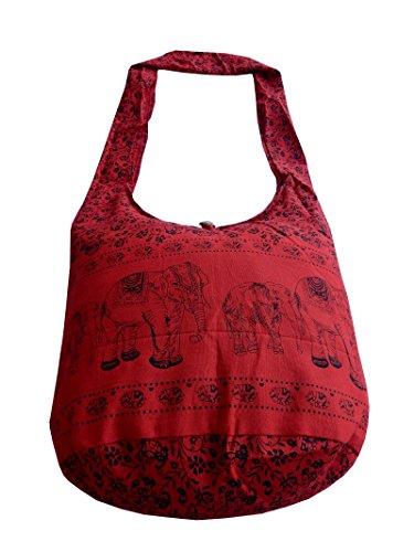 Ariyas Thaishop - Bolso cruzados para mujer Varios Colores multicolor Rojo - Negro