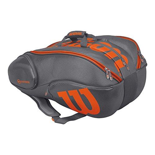 Wilson Burn Grey/orange 15 pack bag (Grey/Orange)