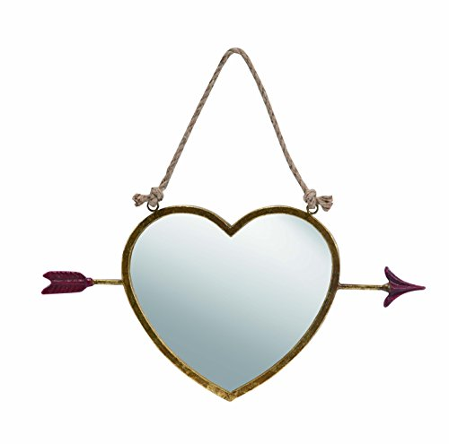 Transpac Metal Hanging 17-Inch Mirror, 19.5