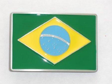 Brazil Brazilian Flag Belt Buckle