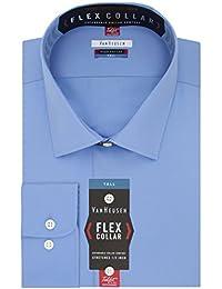 Men's Big Dress Shirts Tall Fit Flex Solid