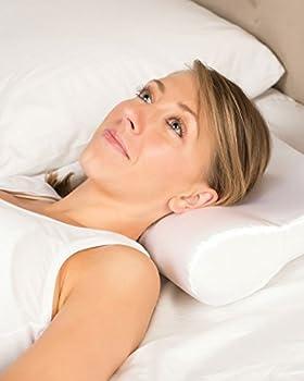 Ab Contour Pillow Satin Cover - Cervical Pillow. Neck Pillow. Snoring Pillow. Ergonomic Cervical Pillow. Neck Support Pillow. Orthopedic Cervical Pillow. Snoring Pillow