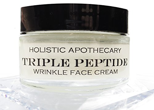 (Triple PEPTIDE Natural Anti Wrinkle Face Cream with Hyaluronic Acid, Caviar & Orchid Extracts Organic Anti Age Face Cream - REGENERATING Facial Moisturizer 1 OZ GLASS JAR)