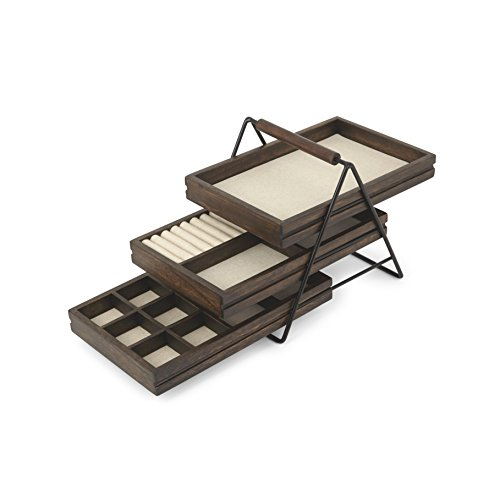 Walnut Wood Jewelry (Umbra Terrace Jewelry Tray, Walnut)
