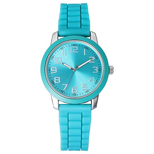 Price comparison product image xhilaration Women's Silicone Strap Watch, Green