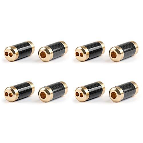 Areyourshop 4 Stks HiFi Carbon Broek Boot Y Splitter 1 Om 2 Speaker RCA Kabel Audio Draad Goud